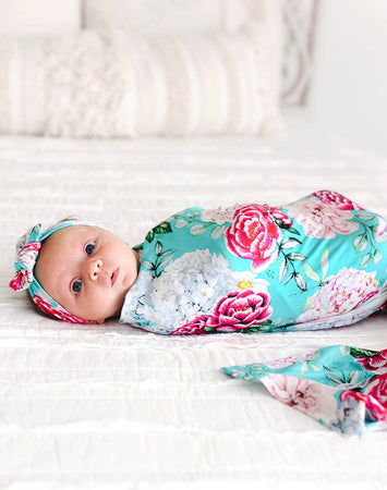 Eloise Infant Swaddle & Headwrap Set