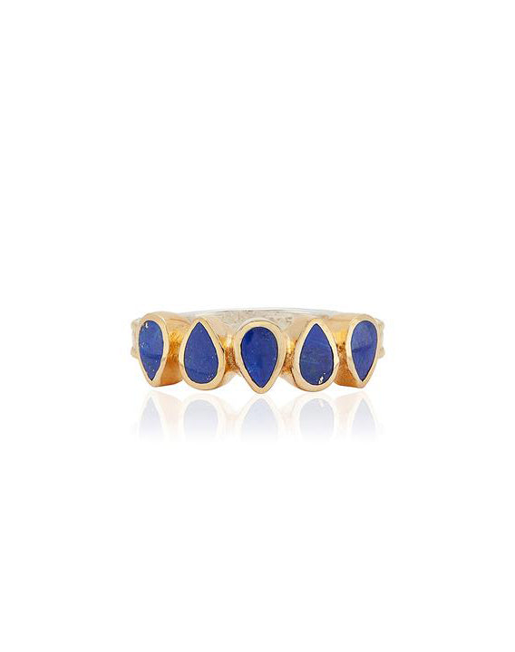 Lapis Multi-Drop Ring