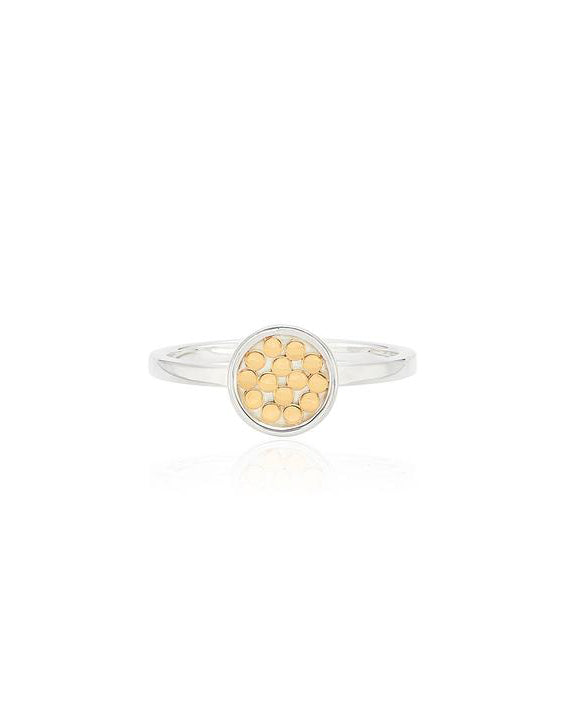 Classic Single Disc Ring - Gold & Silver