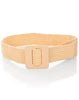 Square Buckle Belt- Tan