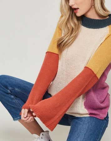 Color Babe Flare Sweater
