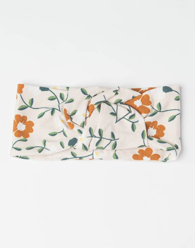 Headband In Tencel-Flower Vine 0-6M