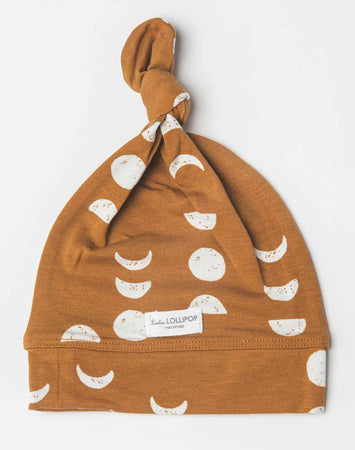 Top Knot Beanie In Tencel- Moon 0-6M