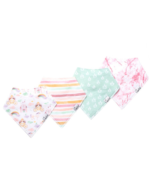 Enchanted Baby Bandana Bib 4-Pack Set
