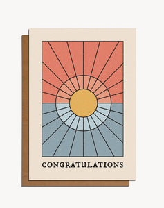 Congratulations Sun Card