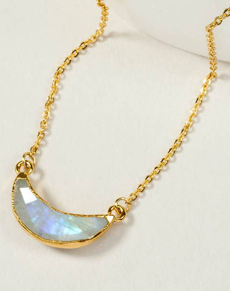Eclipse Necklace Gold - Moonstone
