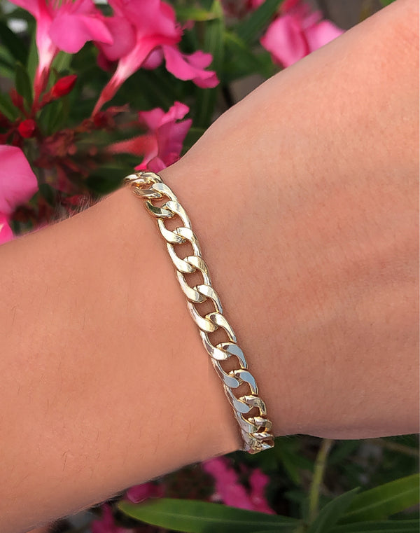 Gold Cuban Chain Link Bracelet