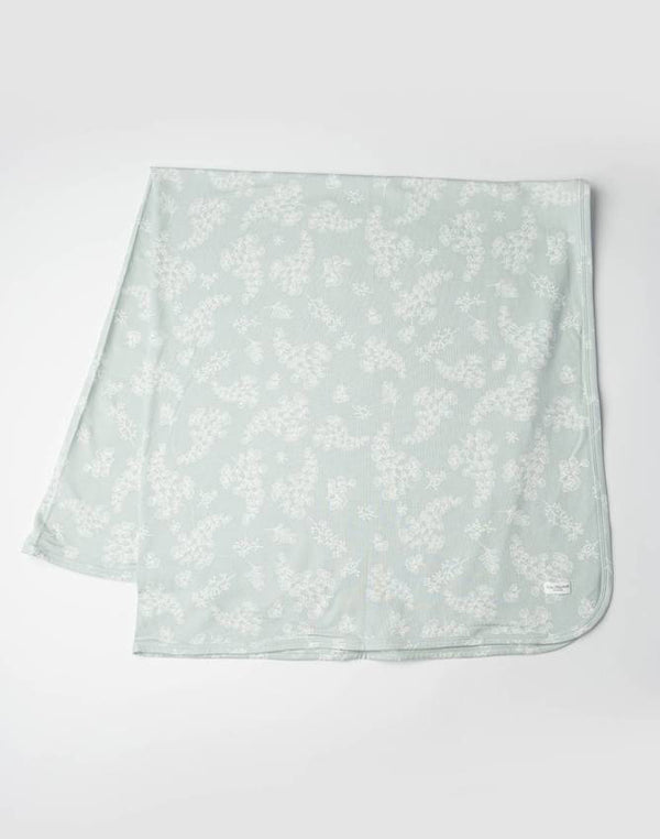 Stretch Knit Blanket in Tencel - Fern