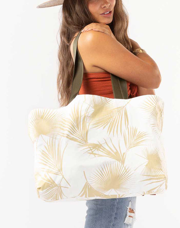 Day Palms Holo Holo Tote White-Sand