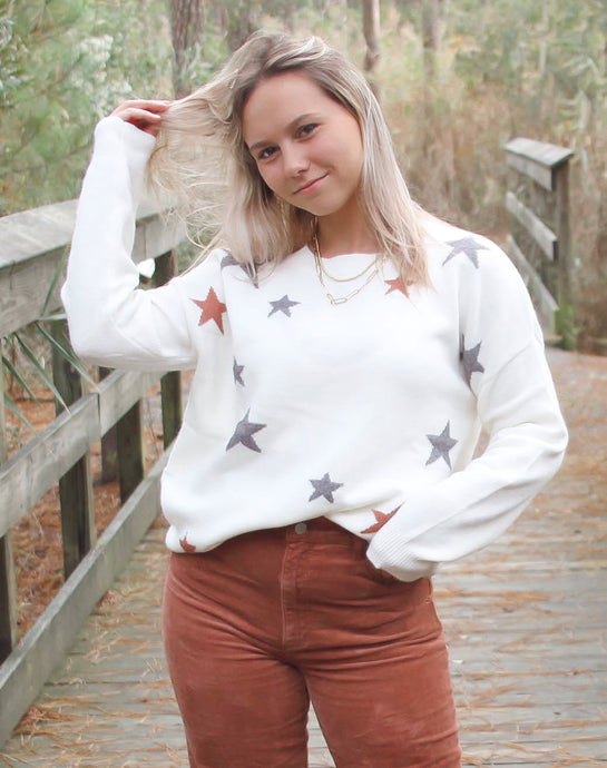 Starry Night Pattern Sweater