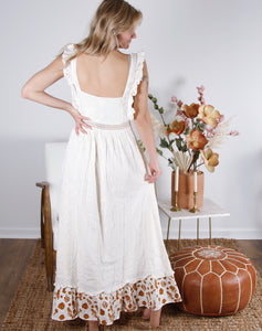 Vacay Embroidered Eyelet Maxi