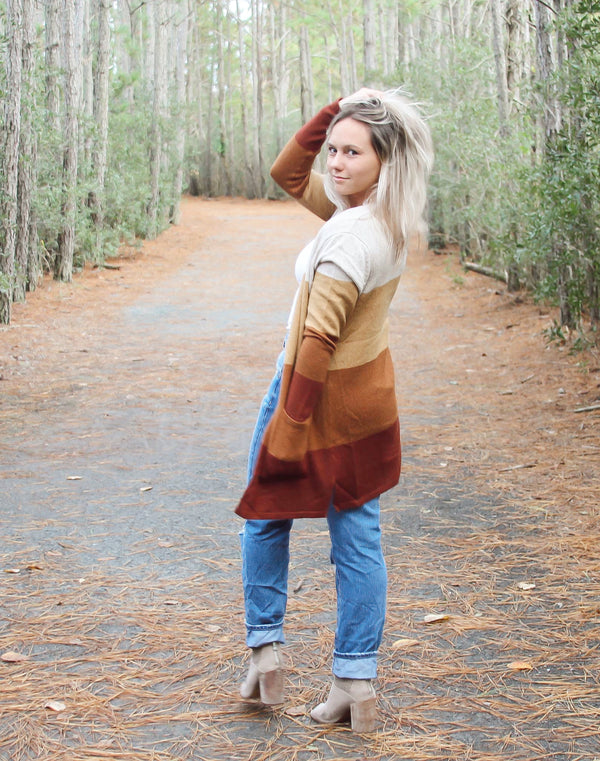 Willow Color Block Cardigan