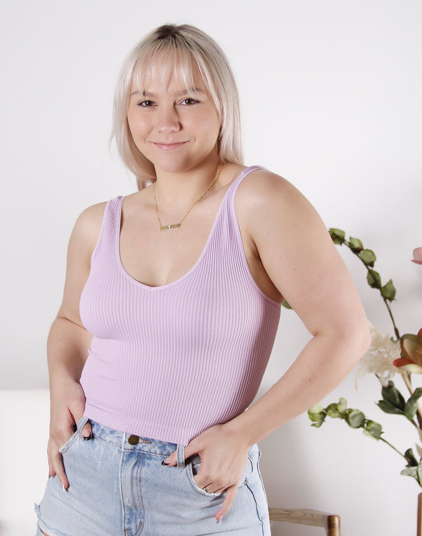 Vintage V Neck Crop Top