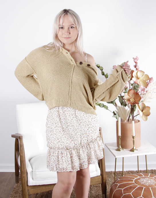 Lemon Oversized Knit Sweater
