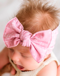 Printed Knot Headband - Mauve Branch