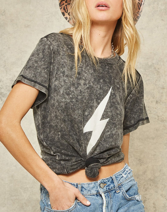 Bolt Graphic Mineral Washed T-Shirt