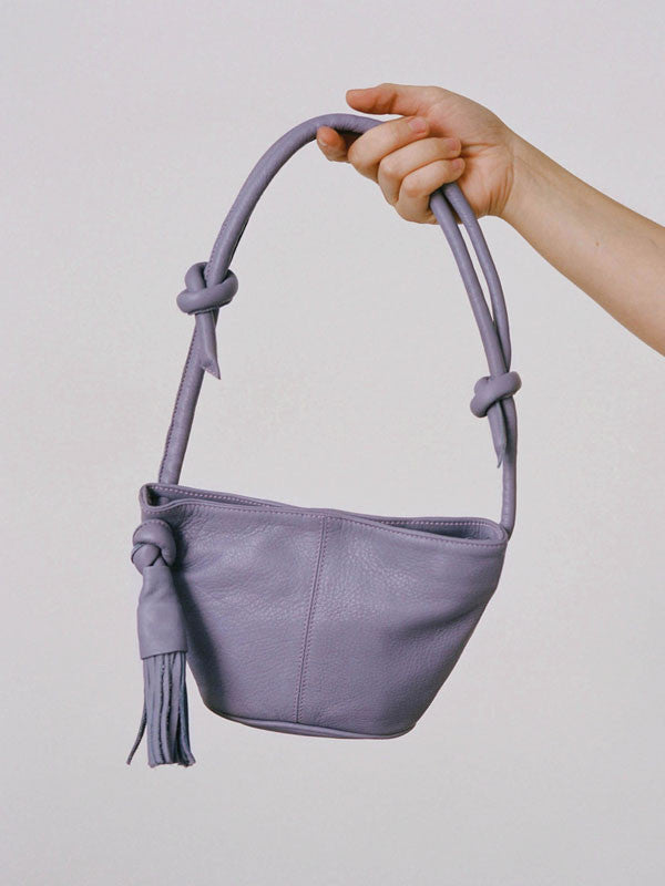 Leather bum bag / handbag with tassel by Paloma Wool