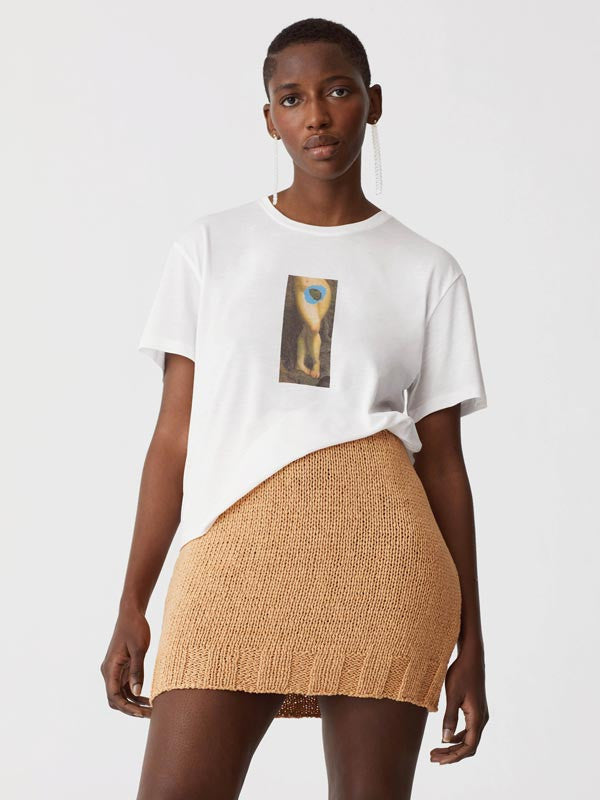 Square-fit t-shirt with 'Mujer Isla' print by Paloma Wool