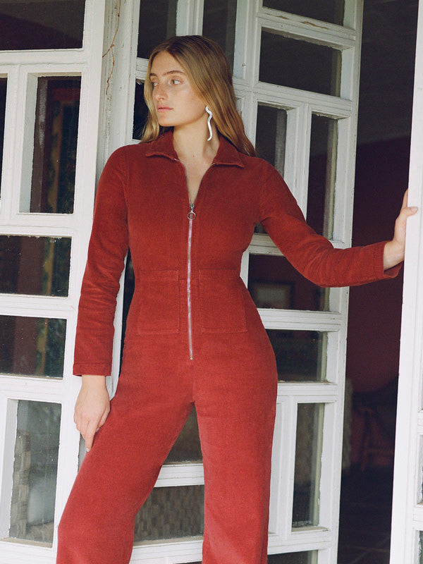 Long sleveed corduroy jumpsuit by Paloma Wool
