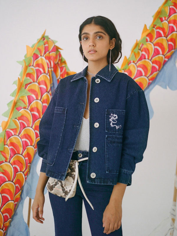 Recycled denim jacket by Paloma Wool