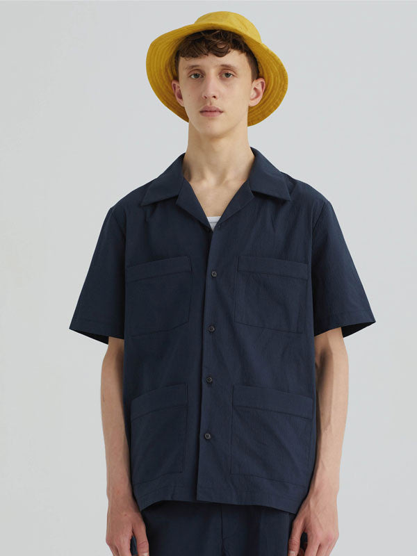 Short-sleeved shirt with camp collar by Paloma Wool