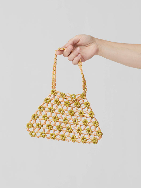 Handmade bold beaded handbag by Paloma Wool