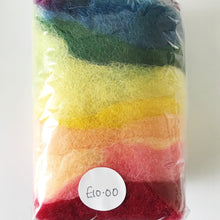 Load image into Gallery viewer, Rainbow Wool Felt