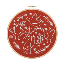 Load image into Gallery viewer, Red Red Robins Embroidery Kit