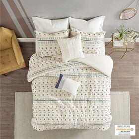 Auden 5 Piece Cotton Jacquard Comforter Set