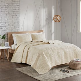 Caden 3 Piece Cotton Coverlet Set