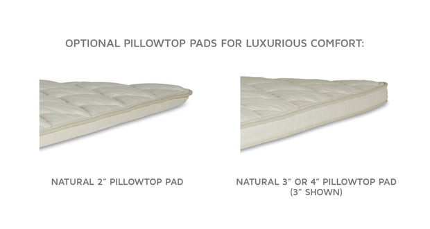 Royal-Pedic Natural Pillow-Top Pads - aereahome