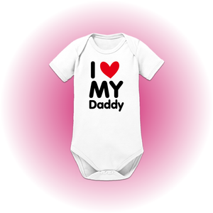 "Babyrompertje ""I LOVE MY DADDY"""