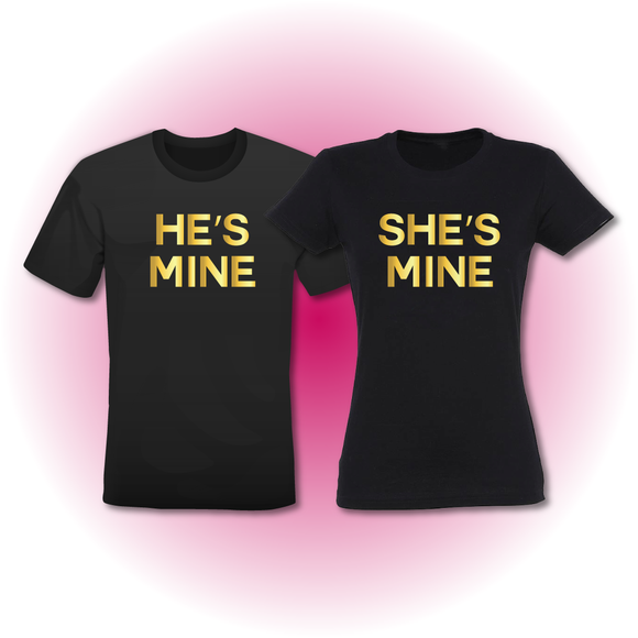 T-shirts He's Mine & She's Mine