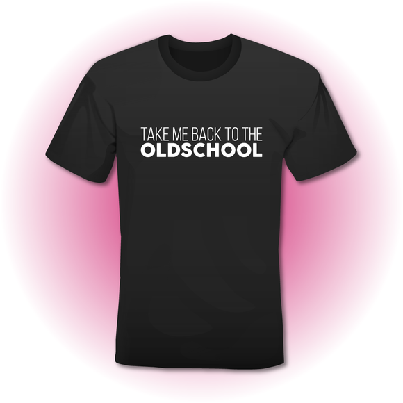 T-Shirt zwart 'TAKE ME BACK TO THE OLDSCHOOL'