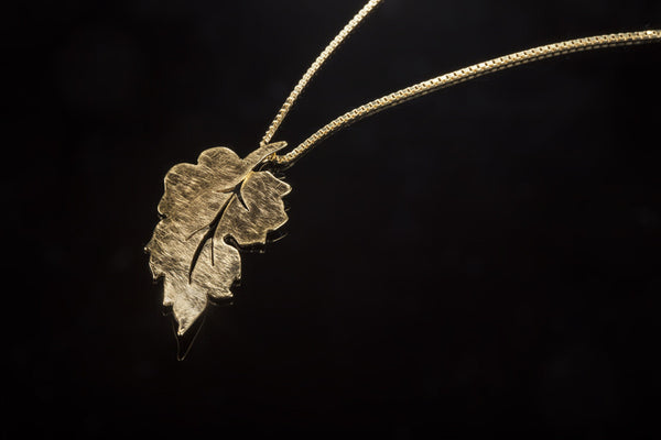 Forest Leaf Pendant - Gold Plated
