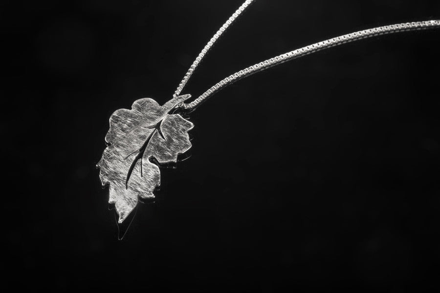 Forest Leaf Pendant - Silver