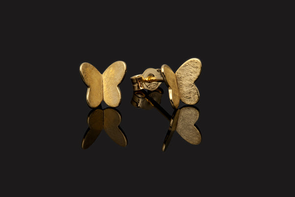 Butterfly Stud Earrings - Gold Plated