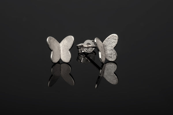 Butterfly Stud Earrings - Silver