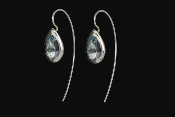 Gem Pear Drop Earrings