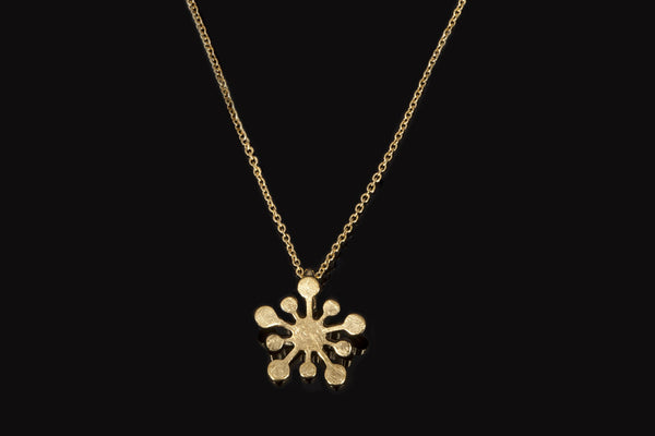 Tiny Snowflake Pendant - Gold Plated