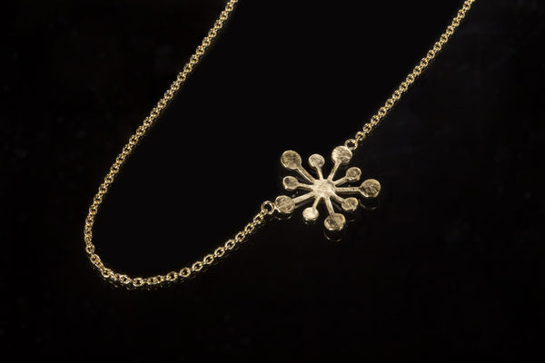 Snowflake Necklace - Gold Plated