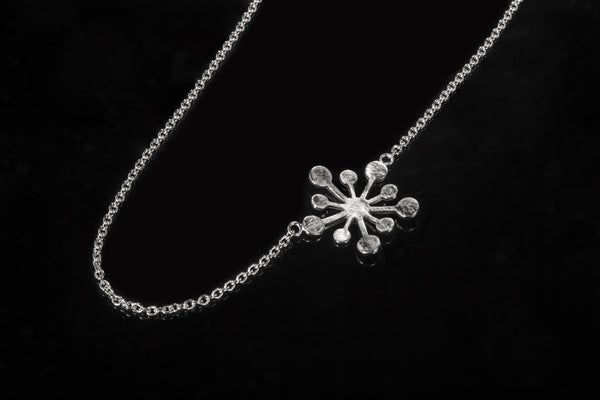 Snowflake Necklace - Silver