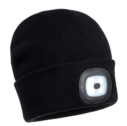 Portwest Junior Beanie LED Head Light USB Rechargeable - Portwest