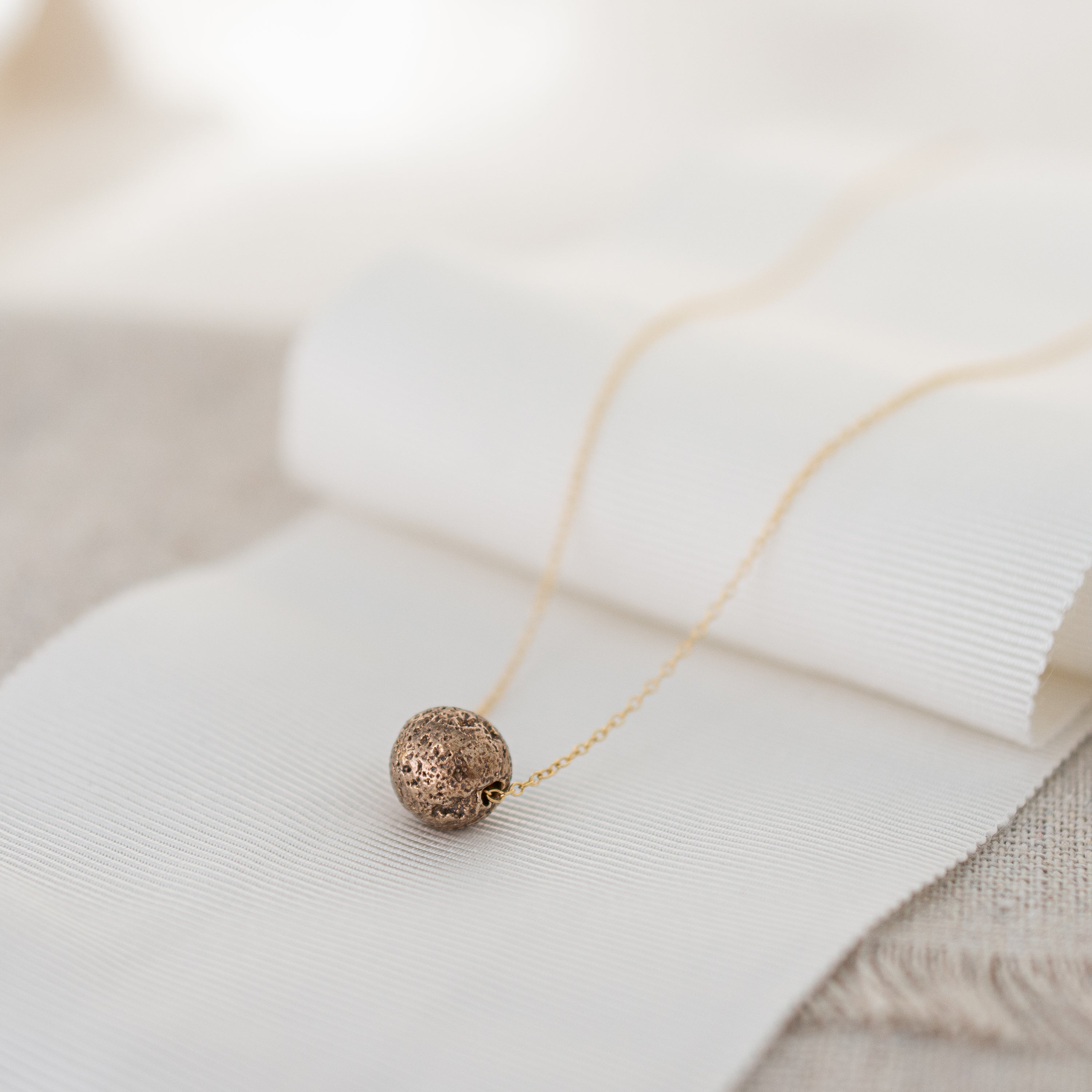 'Courage' Sterling Lava Bead Necklace | Sterling Silver and 14k Gold-filled