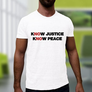 Know Justice Know Peace Tee - White