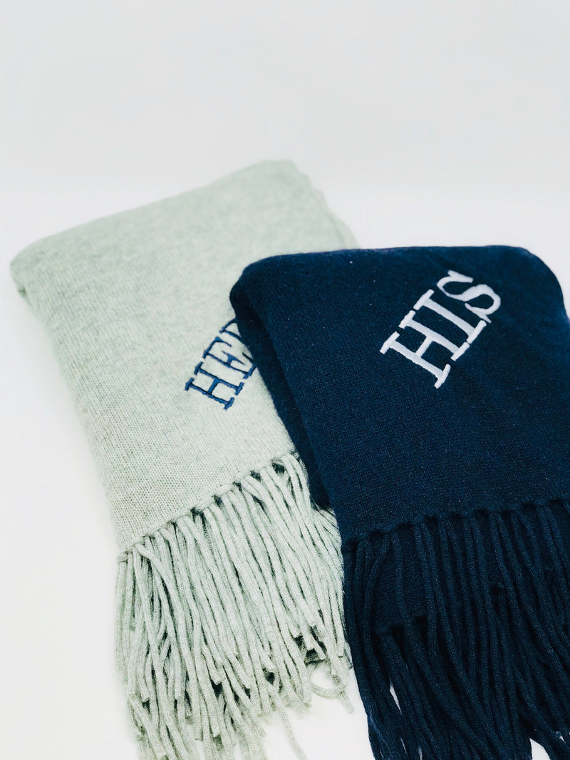 Monogrammed Travel Wrap