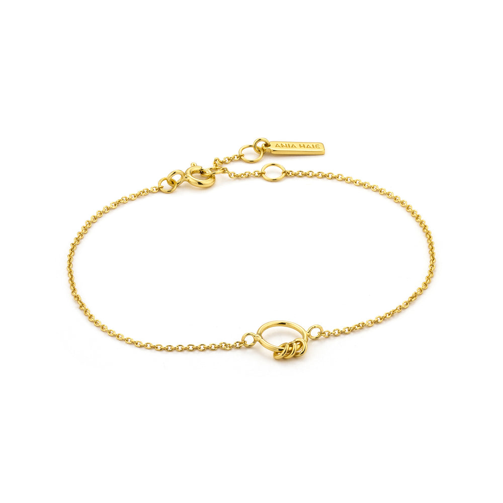 Load image into Gallery viewer, Gold Modern Circle Bracelet