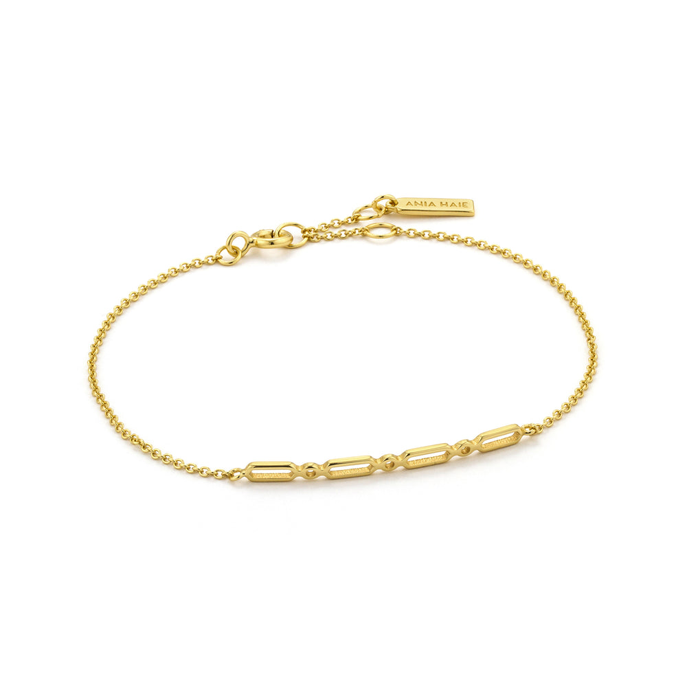 Load image into Gallery viewer, Gold Modern Solid Bar Bracelet