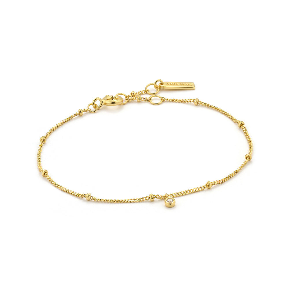 Gold Shimmer Single Stud Bracelet