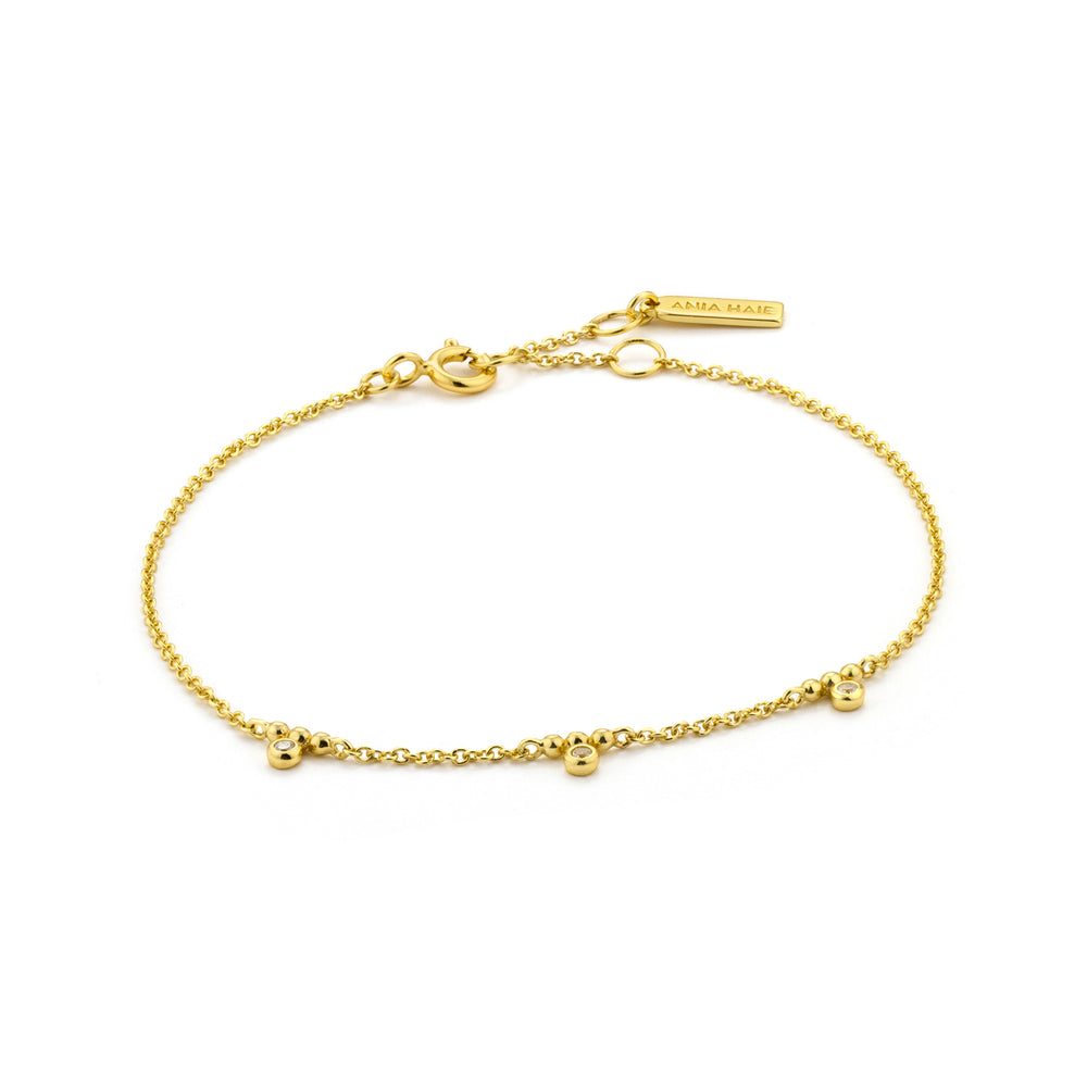 Load image into Gallery viewer, Gold Shimmer Triple Stud Bracelet